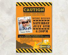 Construction Themed Birthday Invitation #boy #party