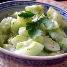 Cucumbers with Sour Cream Allrecipes.com