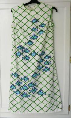 Fishnets-Vested-Gentress-Vntg-Dress-Size 14.