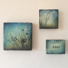 """63 Likes, 5 Comments - Alanna Sparanese (@alannasparanese) on Instagram: """".....wee little encaustic artwork. Love to group these little guys.(6x6,4x4,3x4) #encausticart…"""""""