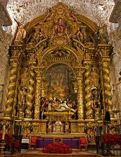 Pedro Roldán: Retablo del altar mayor. (1670-1673) Hospital de la Caridad, Sevilla, España