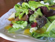 Sweet Passion Fruit Dressing Salad  from the fit cook blog by luisana suegart