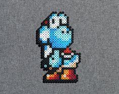 L'île de Yoshi Perler Bead Sprite Yoshi rose par SquareMart