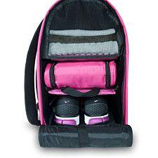 Glo Bag: Ladies Gym Locker Organizer Bag in Hot Pink Gym Bag Essentials, Gym Backpack, Gym Lockers, Workout Accessories, Fitness Accessories, School Accessories, Wet Bag, Gym Gear, Bag Organization