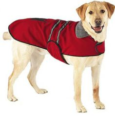 Red Reflective Dog Jacket is made of brushed fleece that's soft to the touch and lined with cozy, heat-retentive polyester fleece. Dog coat sports two reflective strips on the back to increase visibility at night. Warm Dog Coats, Pet Coats, Dog Winter Coat, Winter Coats, Blanket Coat, Dog Jacket, Puppy Clothes, Pet Costumes, Dog Sweaters