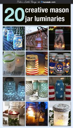 20 Creative Mason Jar Luminaries