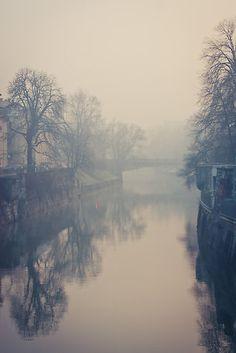 Ljubljana in the fog by liquidawn