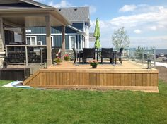 Decks without Railings Design — All Furniture Banisters, Railings, Deck Pictures, Deck Landscaping, Deck Stairs, Railing Design, Pool Decks, Fixer Upper, Curb Appeal