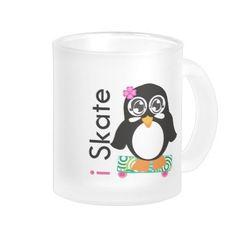 i Skate Penguin Mug #cute #penguin #gifts