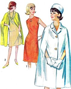 1960s Dress and Cape Pattern Simplicity 5833 by paneenjerez, $12.00