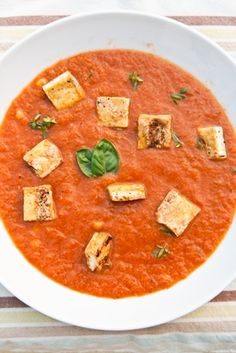 Recipe: Roasted Tomato + Grilled Corn Soup ] Made with: tomatoes, corn ...