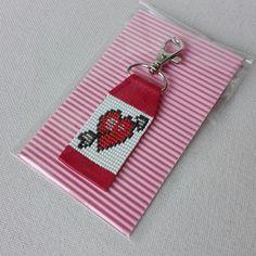 CUPID HEART KEYCHAIN/Leather Keychain/Cupid Heart Key | Etsy Loom Bracelet Patterns, Seed Bead Patterns, Bead Loom Bracelets, Beaded Jewelry Patterns, Beading Patterns, Paracord Bracelets, Love Keychain, Leather Keychain, Heart Keyring