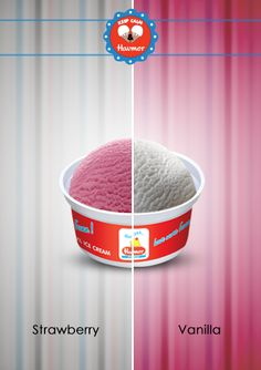 Submerge yourself in the toothsome blend of Vanilla and sweet Strawberry. Keep Calm & Havmor ice cream