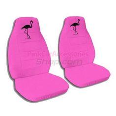 Hot Pink Flamingo Car Seat Covers