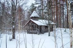 Winners of Snowy Christmas Churches competition  Gerry Lynch  Orthodox Wayside Shrine in Saarivaara, Finland | via Twitter @NatChurchTrust