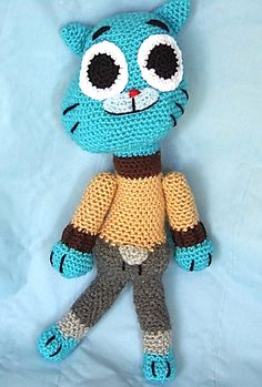 Cartoon Network, Yarn Dolls, World Of Gumball, Phineas And Ferb, Darwin, Tweety, Minions, Crochet Projects, Cat Lovers