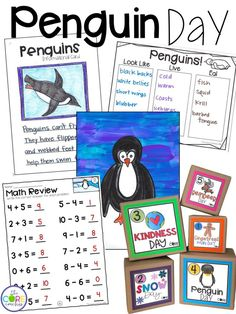 Penguin math, penguin writing, and a penguin craft. Enough penguin activities for the whole school day.