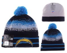 Mens   Womens San Diego Chargers New Era NFL On-Field Team Colors Fashion  Spec Blend Knit Beanie Hat With Pom - Black   Blue 008ade3b6647