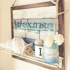 DIY/スターフィッシュ/流木ディスプレイ/カリフォルニアインテリアに憧れる/ディスプレイ…などのインテリア実例 - 2015-07-01 15:18:30 | RoomClip(ルームクリップ) Wood Crafts, Diy And Crafts, Nautical Bathrooms, Beach House Decor, Home Decor, Shell Art, Surf Style, California Style, Coastal Living