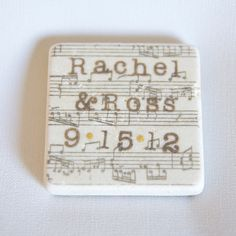 Music Note Save the Date Wedding Magnets. really love this