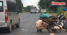 Xe máy va chạm công nông, 2 vợ chồng nguy kịch