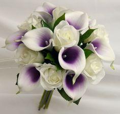 Calla lily rose bridal posy bouquet