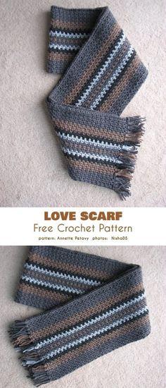 Gentelemen's Scarf Free Crochet Pattern | Your Crochet