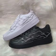 Behind The Scenes By prettyiecustoms All Nike Shoes, Nike Shoes Air Force, White Nike Shoes, Hype Shoes, Cool Womens Sneakers, Custom Sneakers, Custom Painted Shoes, Custom Shoes, Vans Custom