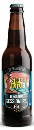 Swell Rider Tangerine Session IPA, from D9 brewery located north of Charlotte in Cornelius, NC