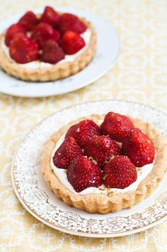 Strawberry Tartelettes.... perfect fairy food!
