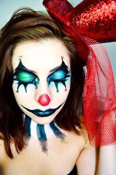 Glam Clown Halloween Makeup | Halloween clown, Clown makeup and ...