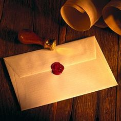 Official Hogwarts Invitations - parchment paper, red sealing wax