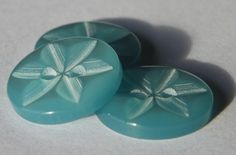 10 Aqua star 2 hole buttons size 26 16mm (no33) £0.29