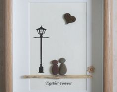 Pebble Art framed Picture  There is always One