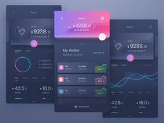 Fiverr freelancer will provide Web & Mobile Design services and design amazing app ui ux design within 3 days Gui Interface, User Interface Design, App Design Inspiration, Daily Inspiration, Dashboard Design, App Ui Design, Font Design, Design Web, Graphic Design