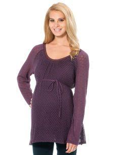 Motherhood Maternity Jessica Simpson Long Sleeve Scoop Neck Lightweight Maternity T Shirt