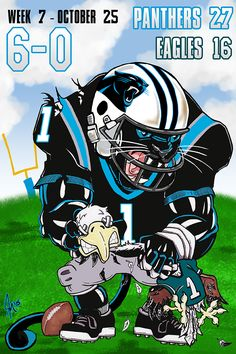 Carolina Panthers Vs Dallas Cowboys Cartoon The Moving