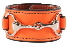 You must see the collection together but this makes me want to go to a ranch and ride. Just kidding. I'll wear the bracelet instead. Nickel Bit Bracelet/Leather Cuff, Orange on OneKingsLane.com