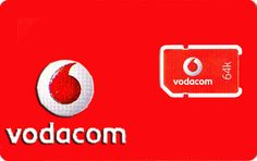 NEW South Africa Vodacom Prepaid Sim Card with 500MB Credit  *Ship From USA