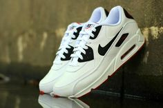 Nike Air Max 90 Leather (Black/White/Red)