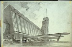 Hugh Ferriss' architectural sketches, 1915-1961 - early version