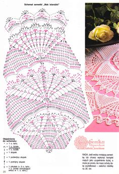 "Photo from album ""Sabrina Tous les Ouvrages on Yandex. Crochet Tablecloth Pattern, Crochet Doily Diagram, Filet Crochet Charts, Crochet Books, Thread Crochet, Crochet Stitches, Crochet Doily Patterns, Crochet Motif, Embroidery Patterns"