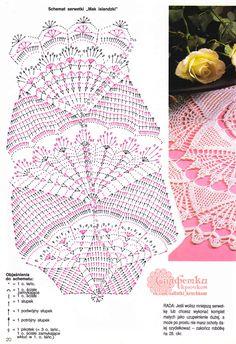 "Photo from album ""Sabrina Tous les Ouvrages on Yandex. Crochet Tablecloth Pattern, Crochet Doily Diagram, Filet Crochet Charts, Crochet Books, Thread Crochet, Crochet Stitches, Crochet Doily Patterns, Crochet Motif, Embroidery Patterns"