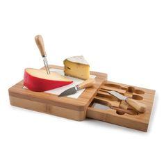 Bamboo Cheese Board Set. A lovely wedding gift idea.