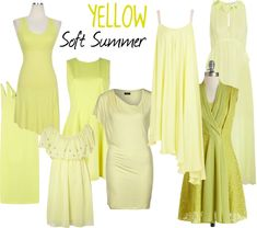 """According to color typing I am a """"Soft Summer"""" and these are the shades of yellow I can wear that won't make me look ill. Soft Summer Color Palette, Summer Colors, Lady Like, Color 2017, Seasonal Color Analysis, Color Me Beautiful, Soft Autumn, Fashion Colours, Mode Inspiration"""