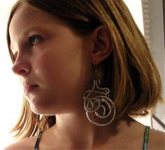 earrings - wire - sassy girly girl earrings by leadyouhomeoriginals