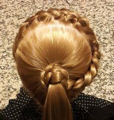 Saç Modeli 8 - Örgülü atkuyruğu modeli, Braided ponytail hairstyle / Fer...