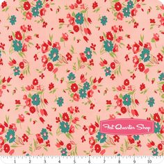 Dixie Coral Small Floral Yardage  SKU# 41862-5  - Windham Fabrics    Fat Quarter Shop