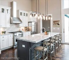 Braelyn Linear Chandelier by Kichler Kitchen Layout, New Kitchen, Kitchen Dining, Kitchen Decor, Kitchen Ideas, Kitchen Tips, Kitchen Inspiration, Half Wall Kitchen, Kitchen Goods