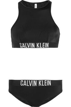 Calvin Klein- CK One Racerback Bikini $110 For all the CK lovers here's the perfect swim piece for you! #calvinklein #bikini #CK